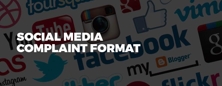 Social Media Complaint Format - Legal Helpline India